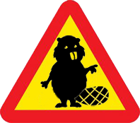 Warning for beavers